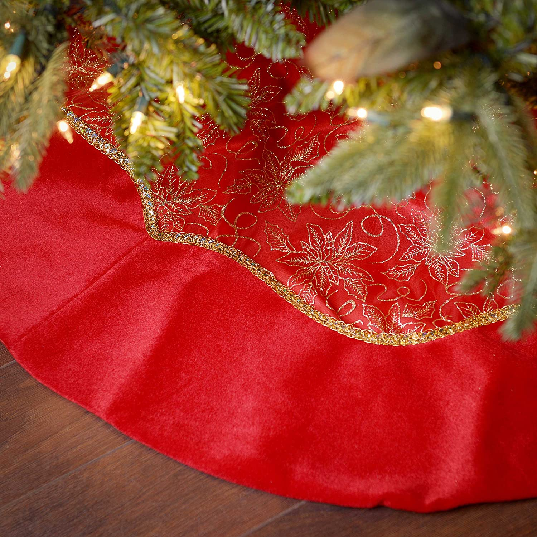 Red Sheer Organza Tree Skirt