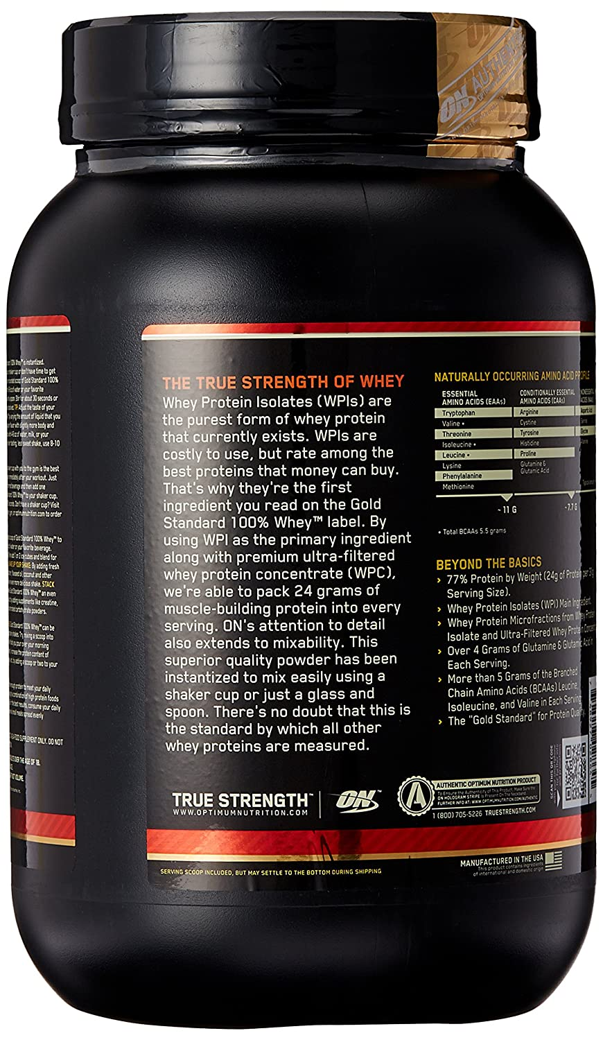 ON Whey Gold Standard - 2 lb Delicious Strawberry