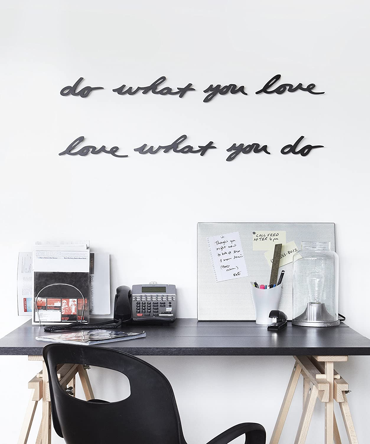 Umbra Metal Wall Decor : Umbra mantra do what you love metal wall decor phrase