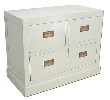 Asia Kommode mit Schubladen in weiß