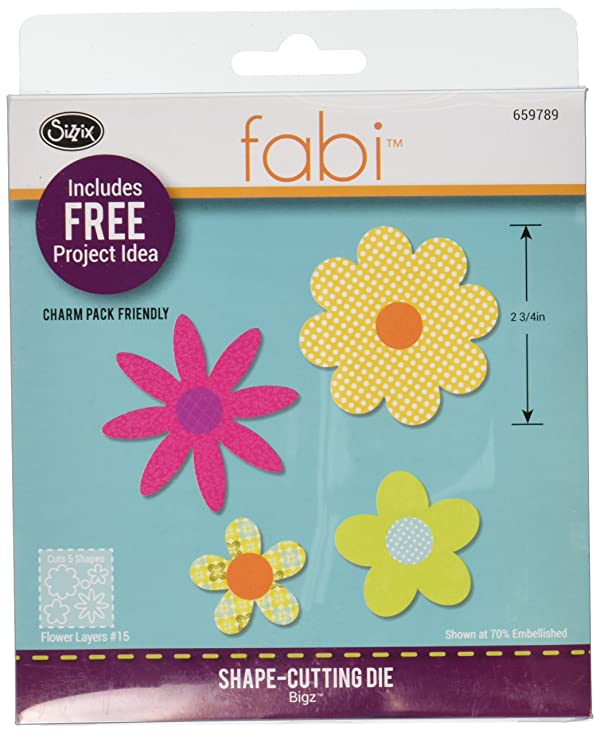 Sizzix Bigz Die, Flower Layers #15 (Fabi Edition)