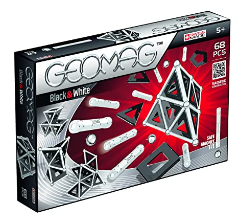 Geomag - 012 - jeu de construction - black & white - 68 pieces
