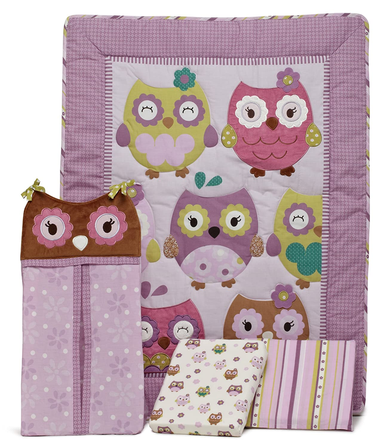 Owl Wonderland 4 Piece Crib Bedding Set