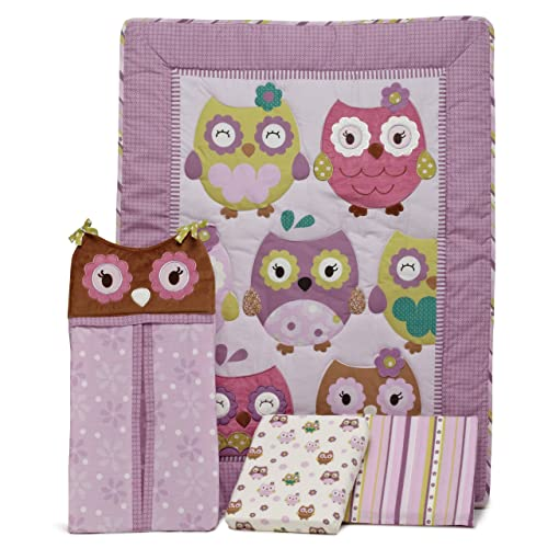CoCo & Company Owl Wonderland 4 Piece Crib Bedding Set