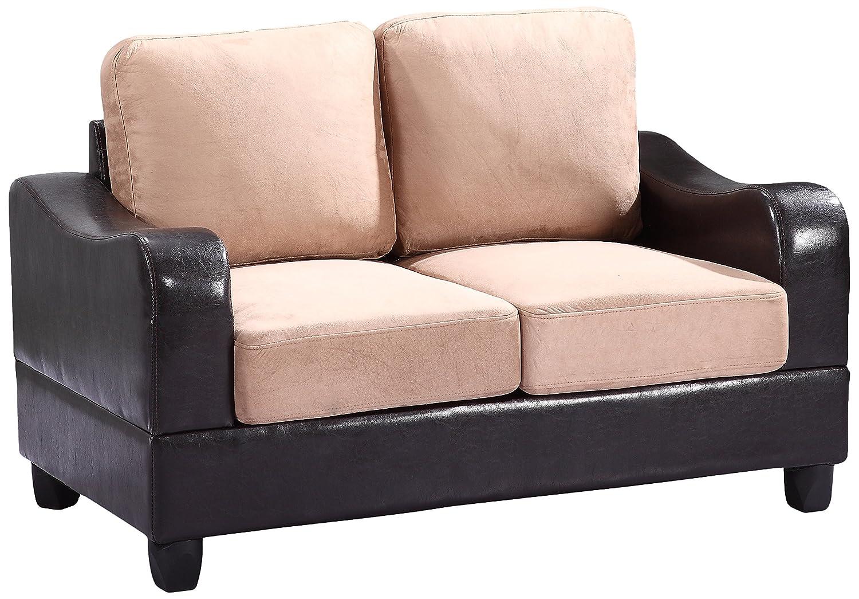 Glory Furniture G628-L Living Room Love Seat - White