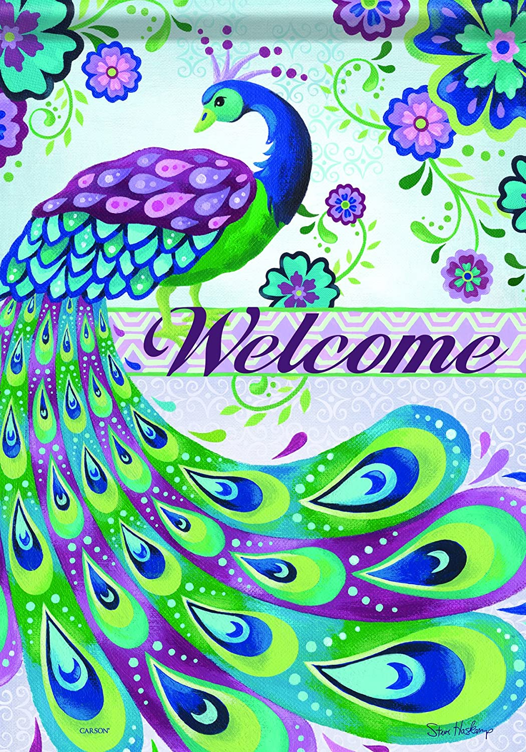 Peacock Welcome Sign Decorative