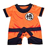 Dressy Daisy Baby Dragon Ball Son Goku Costume Dress up Jumpsuit Romper Outfit Infant Size 6-9 Months (Color: Dragon Ball Son Goku, Tamaño: 6-9 Months)
