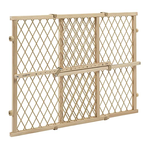 Evenflo Position and Lock Wood Adjustable Baby Gate Tan
