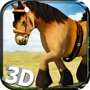 Wild Horse Simulator 3D Run - Free Horse Riding, Endless Running, Jumping & Jungle Simulation Game by Tenlogix Games