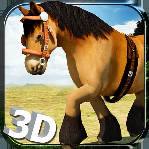 Wild horse simulator 3d run free horse for Simulatore 3d