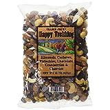 Trader Joe's Happy Trekking.Almonds, Cashews, Pistachios, Chocolate, Cranberries & Cherries.15 oz. bag.Low Sodium.No Gluten