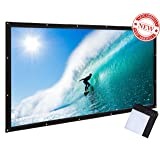 Varmax Portable Projector Screen Foldable Canvas Material for Home and Outdoor Movie 150 inch 16:9