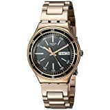 Swatch Unisex YGG704G Charcoal Medal Rose Analog Display Quartz Rose Gold Watch (Color: Rose)