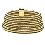 """14.7"""" Superior newest design GOLD MULTILAYER scarf 5 layered chain string magnetic clasp statement women CHOKER NECKLACE Balmain by SEVEN50 coming with amazing GIFT BOX"""