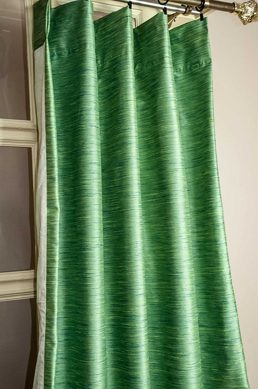 Raw Silk Heavy faux silk black out curtain/panel