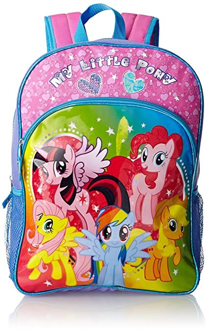 FAB Starpoint Little Girls'  My Little Pony  16 Inch Backpack, Multi, One Size