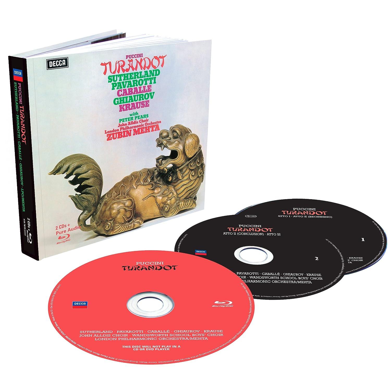 Giacomo Puccini – Turandot – Joan Sutherland, Luciano Pavarotti, Montserrat Caballe, LPO, Zubin Mehta (1972/2014) [Blu-ray Audio to FLAC 24bit/96kHz]