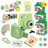 Fujifilm Instax Mini 9 Instant Camera LIME GREEN w/ Fujifilm Instax Mini 9 Instant Films (60 Pack) + A14 Pc Deluxe Bundle For Fujifilm Instax Mini 9 Camera (Color: Lime Green)
