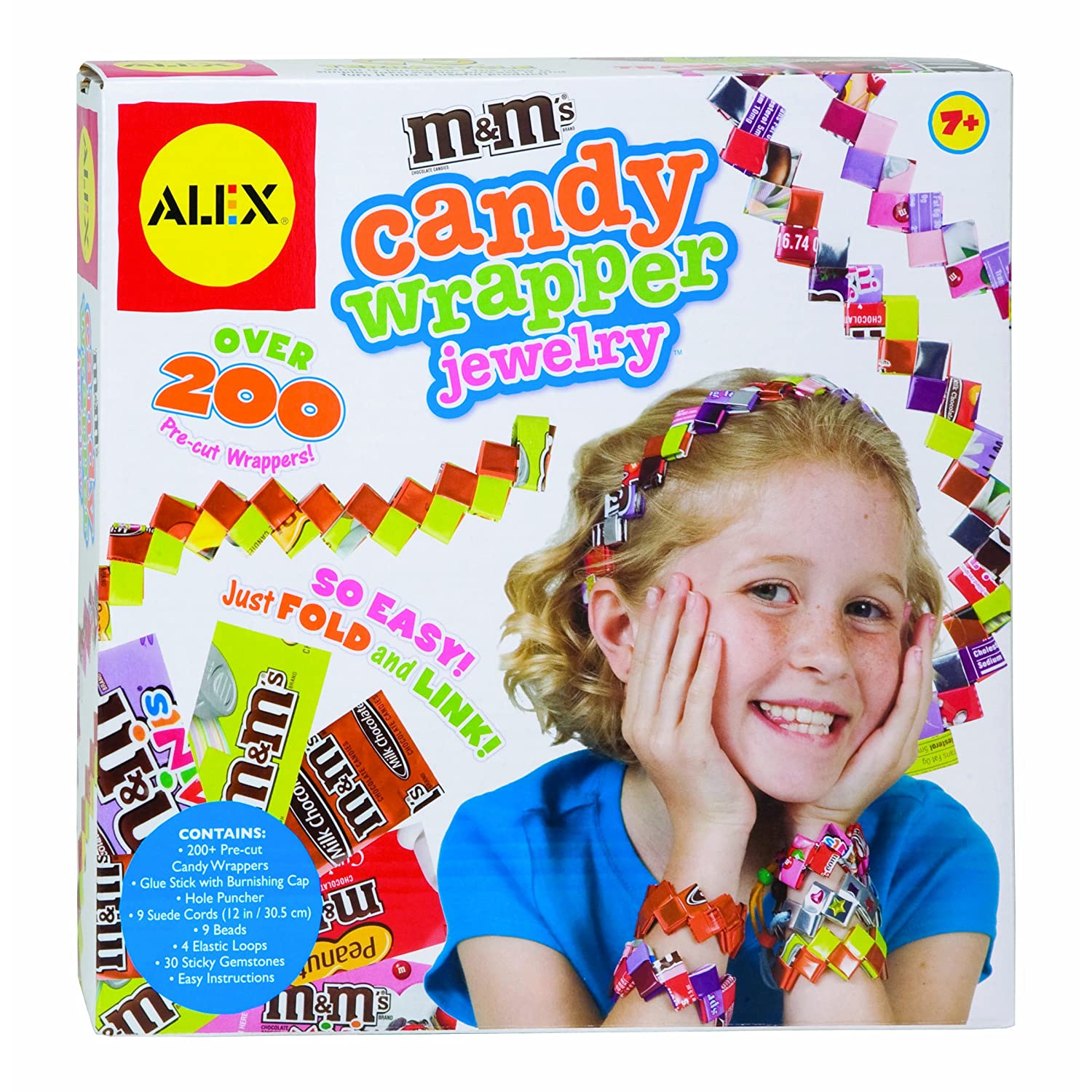 Alex M & M's Candy Wrapper Jewelry