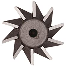 "Niagara Cutter N12520 Single Angle Shank Type Dovetail Cutter, High Speed Steel, Uncoated (Bright), Weldon Shank, 45 Degree Angle, 1-3/8"" Cutter Diameter, 10 Tooth, 3/8"" Face Width, 2-7/8"" Overall Length"