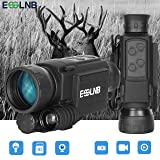 ESSLNB Night Vision Monocular 40mm Night Vision Infrared Scope for Night Hunting 656ft Digital Night Vision IR Camera with LCOS Screen 8GB TF Card Recording Image and Video Playback Function (Color: LCOS Night Vision Monocular)