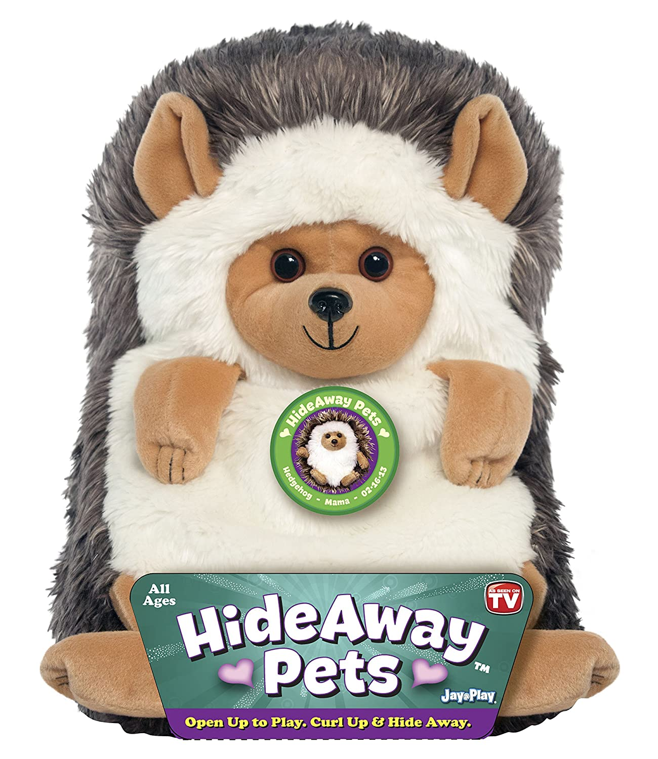 "Jay At Play 15"" Hideaway Pets (Hedgehog)"