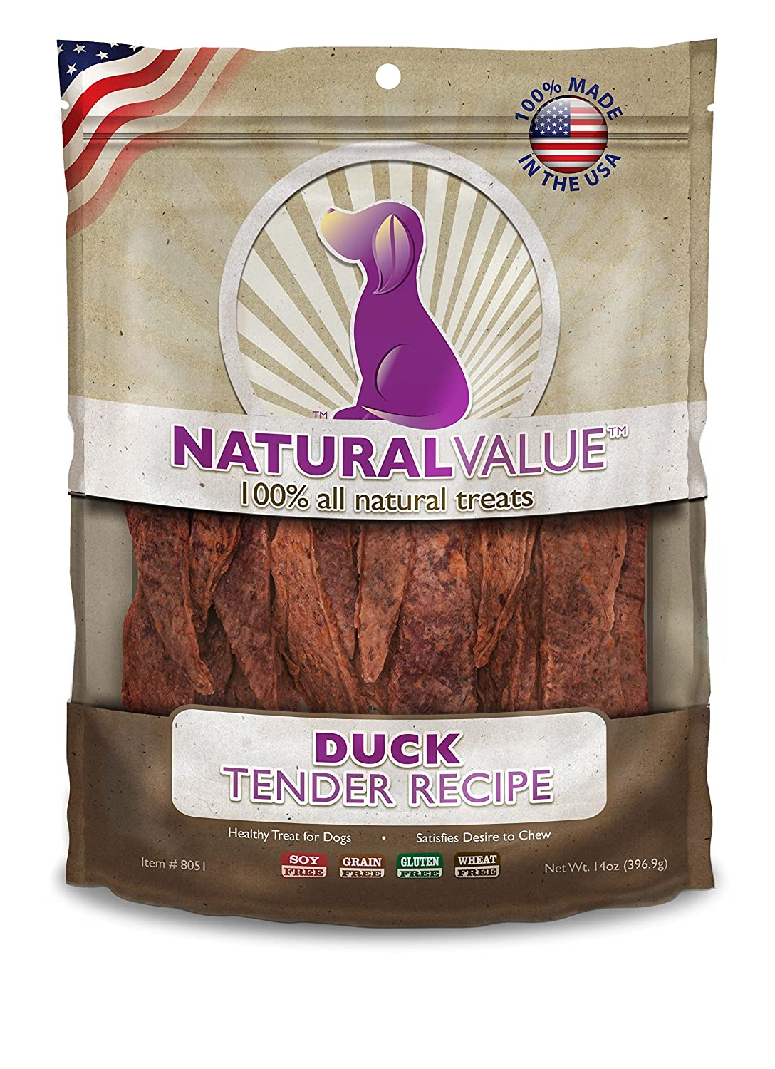 Natural Value Treats 14oz-Duck Tenders günstig online kaufen