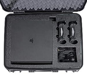 Case Club Waterproof Playstation 4 / PS4 Slim Case (Color: BLACK)