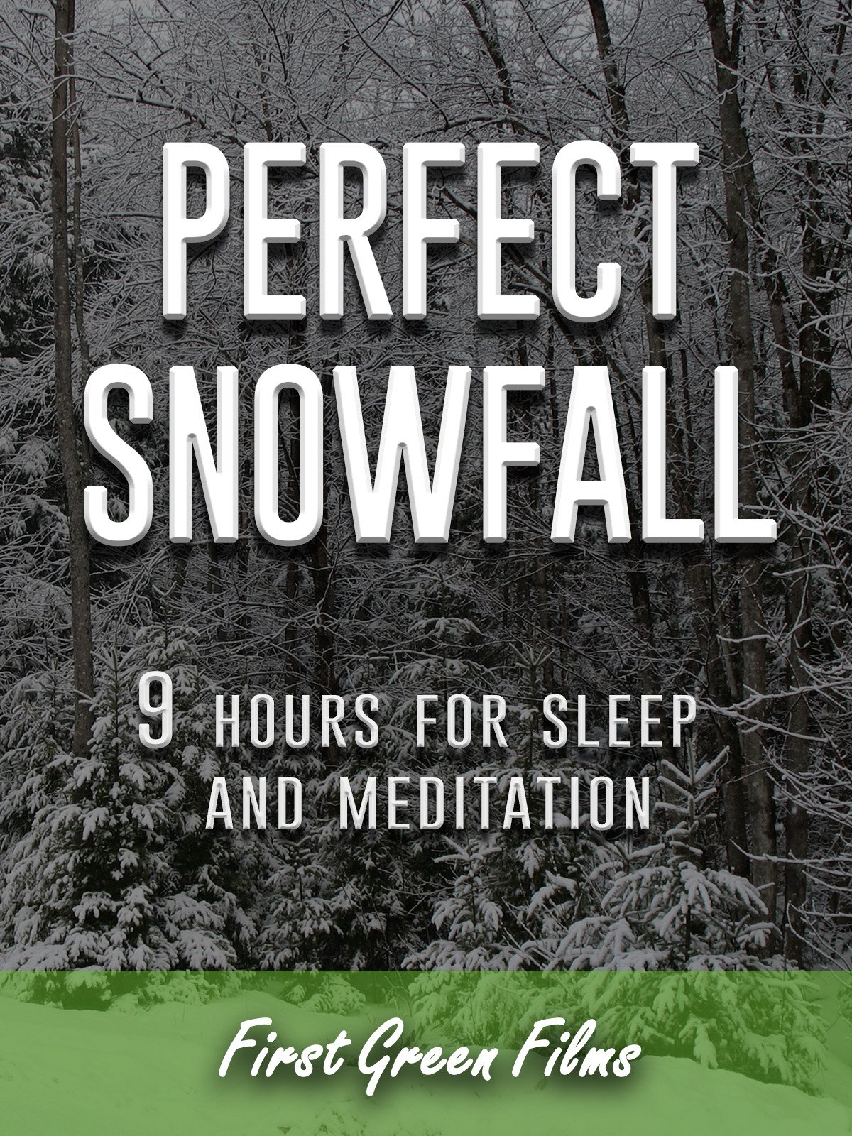 Perfect snowfall, 9 hours for Sleep and Meditation