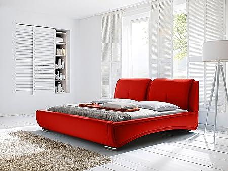 Modern Platform Bed in Red (Est King - 95 in. L x 84 in. W x 39 in. H)