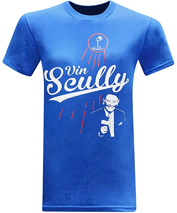 Vin Scully Baseball Hall of Fame Broadcaster Men's T-Shirt
