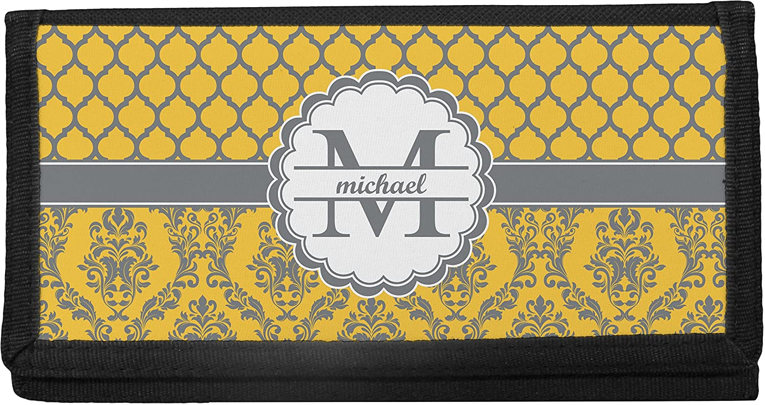 Damask & Moroccan Personalized Checkbook Cover