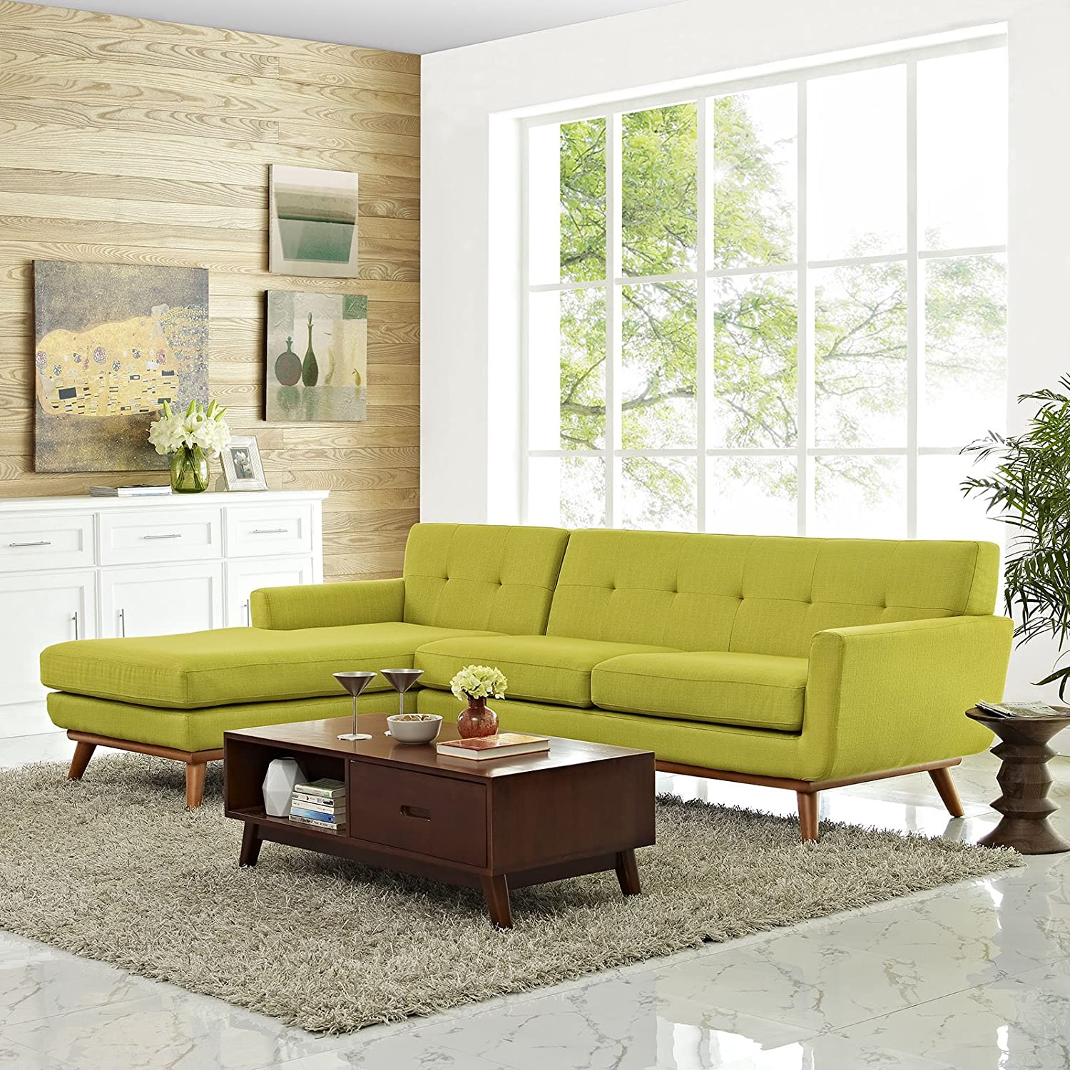 Engage Left-Facing Sectional Sofa - Wheat