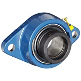 SKF FYT 3/4 FM Ball Bearing Flange Unit, 2 Bolts, Eccentric Collar, Regreasable, Contact Seal, Cast Iron, Inch, 0.75