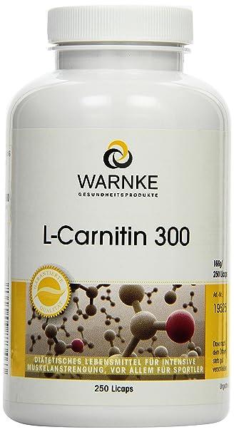 Warnke Gesundheitsprodukte L-Carnitin 300 mg, Carnipure flussig, 250 Licaps, 1er Pack (1 x 166 g)