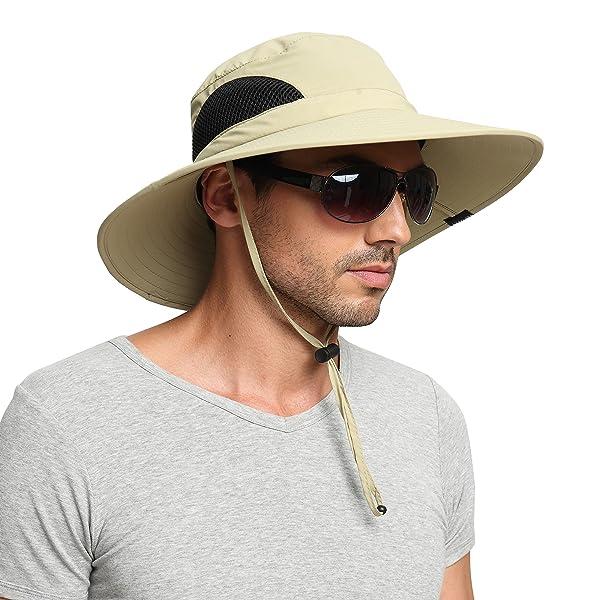 ba211ce7def EINSKEY Men s Wide Brim Sun Hat