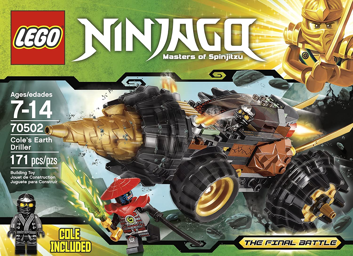Amazon.com: LEGO Ninjago Cole Earth Driller 70502: Toys & Games