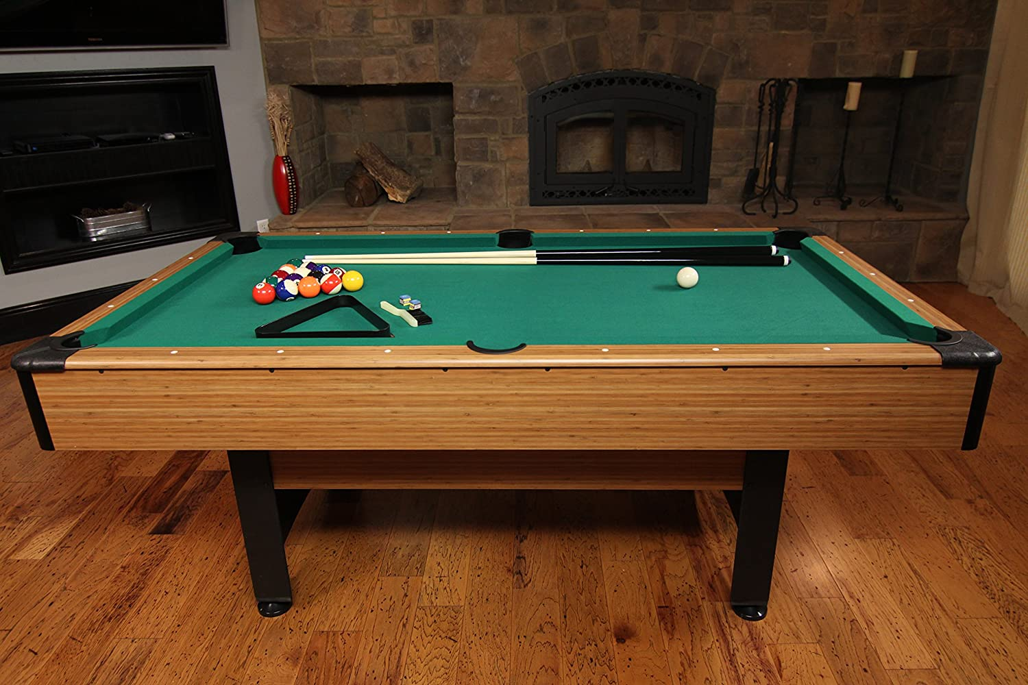 Mizerak Dynasty Foot Billiard Table Review - How much room for a pool table
