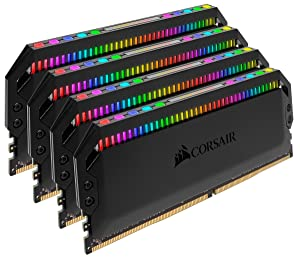 Corsair Dominator Platinum RGB 64GB (4x16GB) DDR4 3466 (PC4-27700) C16 1.35V Desktop Memory - Black (Tamaño: 64 Gb)
