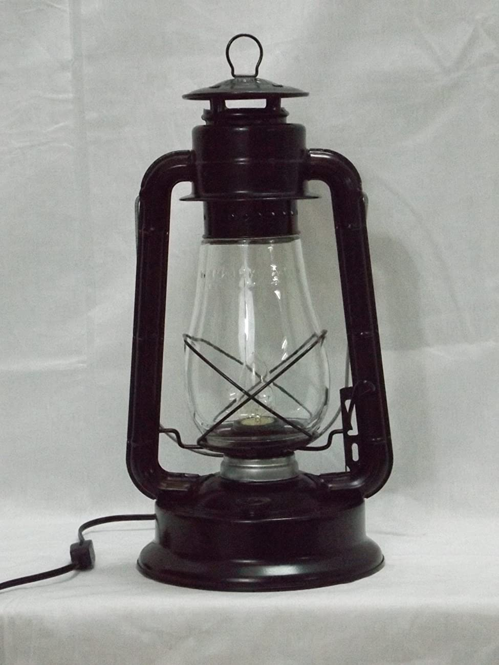 Dietz Blizzard 'Vintage Style' Electric Lantern Table Lamp - Black 1