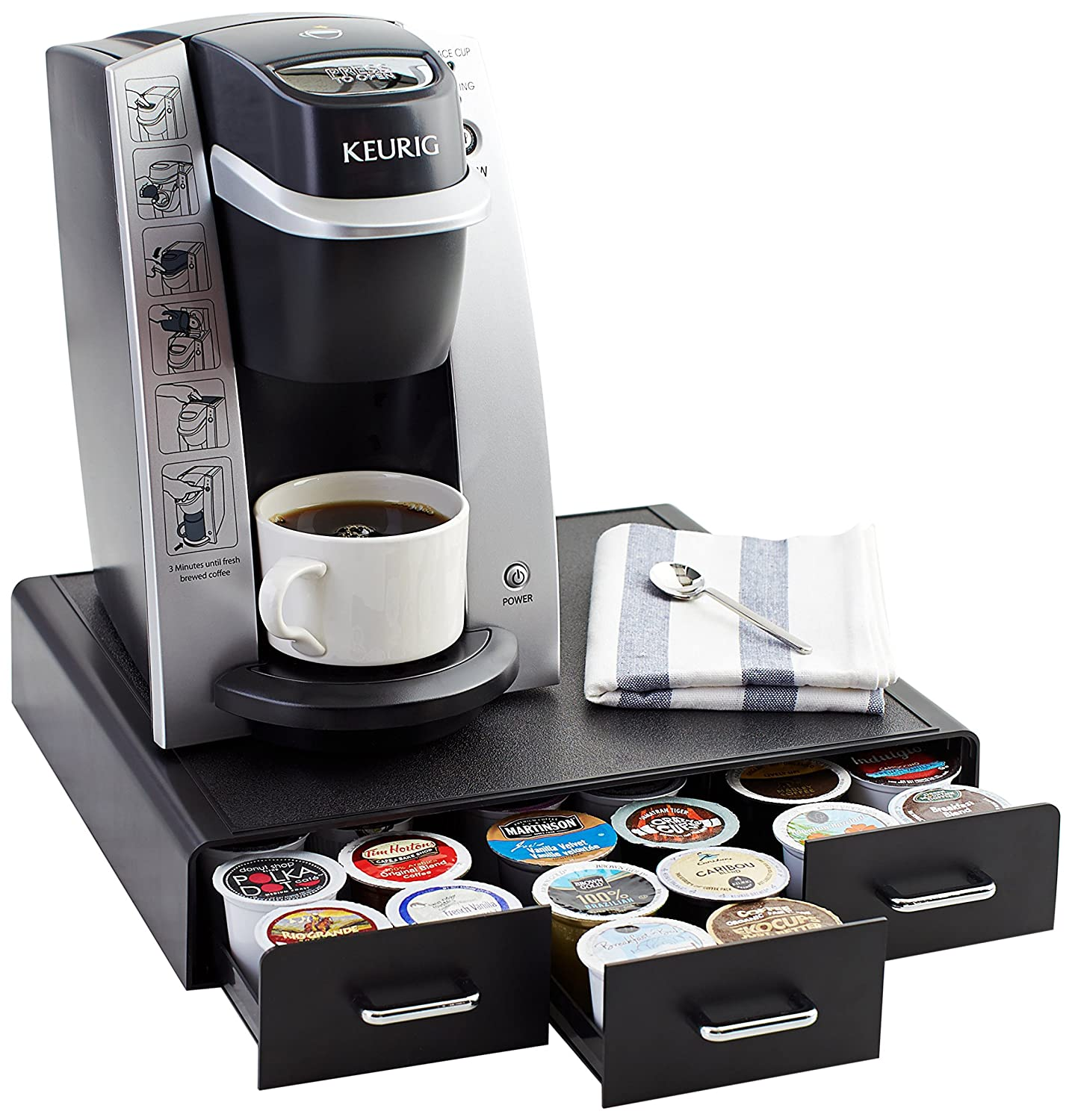 Electronic Best Coffee Pod Machines best coffee pod holder top rated holders 2016 amazonbasics storage drawer