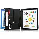 STYLIO Zippered Padfolio Portfolio Binder, Interview Resume Document Organizer. Internal Holders For iPad/Tablet (up to 10.1