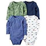 Carter's Baby Boys' 4-Pack Dino Bodysuits 18 Months