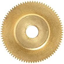 "Brass Pinion Gear 64P 20 Deg Pressure Angle 80Teeth x .250"" Bore x 1.250"" Pitch Dia"