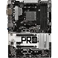 ASRock AB350 Pro4 AM4 AMD Promontory B350 SATA 6Gb/s USB 3.0 HDMI ATX Motherboards (AMD)