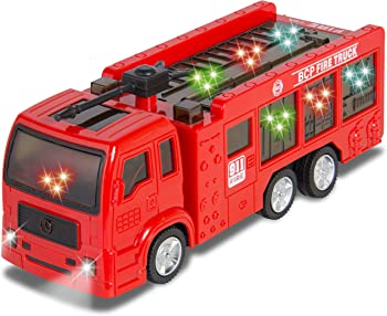 Fire Truck Electric Flashing Lights Kids Toy