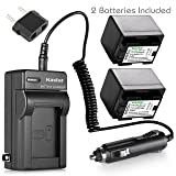 Kastar Battery 2-Pack + Charger for Canon BP-727, BP-718, BP-709, VIXIA HF M50, HF M52, HF M500, HF R30, HF R32, HF R40, HF R42, HF R50, HF R52, HF R60, HF R62, HF R300, HF R400, HF R500, HF R600 (Color: 08 (COMBO: 2 BATTERIES + 1 NORMAL CHARGER KIT))