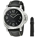Panerai Men's PAM00560 Luminor Stainless Steel Mechanical Hand-Wind Watch with Interchangeable Bands (Color: black)