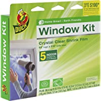 Duck Brand 281504 Indoor 5-Window Shrink Film Kit, 62