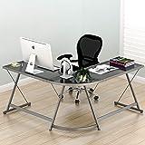 SHW Vista Corner L Desk (Color: Nickel Silver)